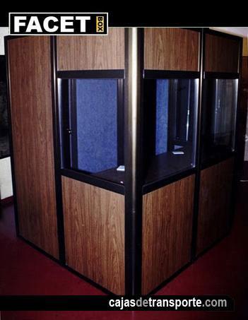 Cabina de traducción simultánea de Cajas de Transporte