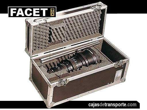 Cajas de transporte a medida para objetivo fotográfico