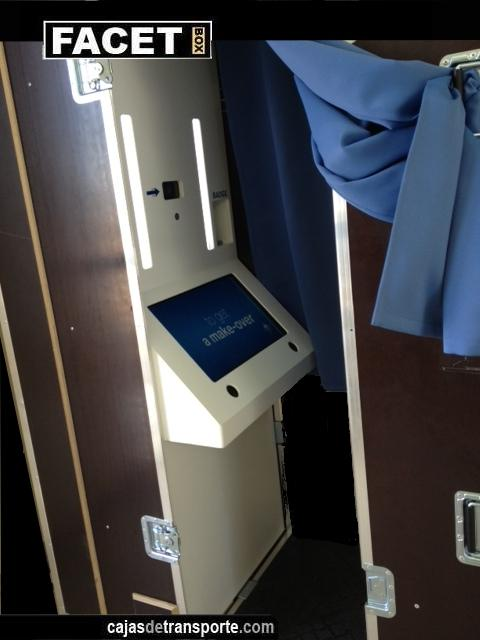Interior caja fotomatón