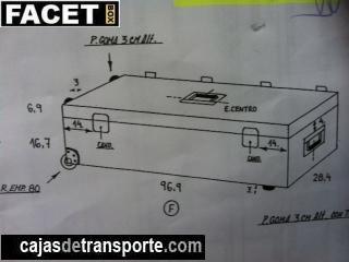 Plano de caja a la medida de Cajas de Transporte