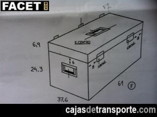 Plano de caja de transporte a medida