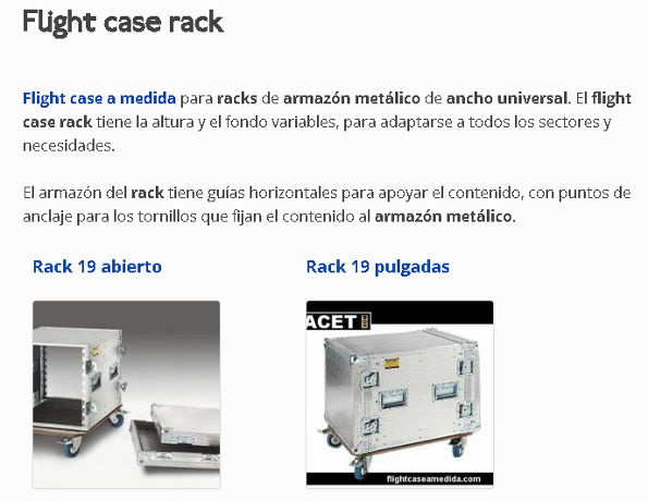 Flight case rack del grupo Facet Box