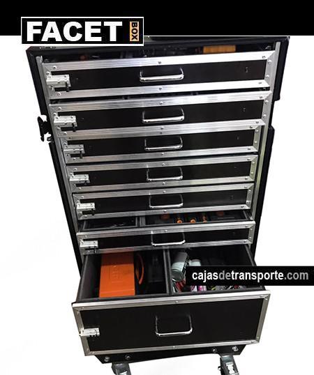 Imagen Caja de herramientas con ruedas de Cajas de Transporte del Grupo  Facet Box
